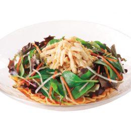 ごま油香る彩り野菜と蒸し鶏のサッパリ冷し中華