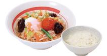 台湾野菜まぜめん(ピリ辛) ライスセット