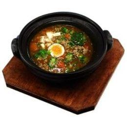 豚ひき肉山いも納豆カリー (オリジナルスープ)
